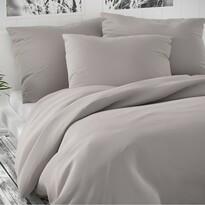 Lenjerie de pat din satin Luxury Collection, gri deschis, 140 x 200 cm, 70 x 90 cm