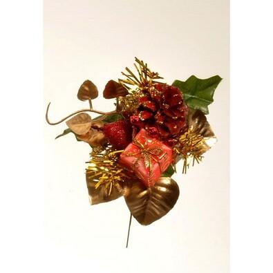 Umělá dekorace šiška, v. 17 cm, červená, sada 3 ks