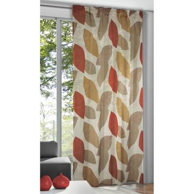 Záclona se skrytými poutky Pietro korálová, 135 x 245 cm