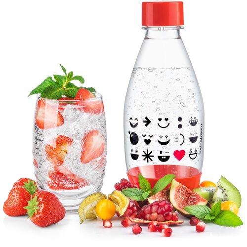 SodaStream Szmájli gyermek palack, 0,5 l, piros