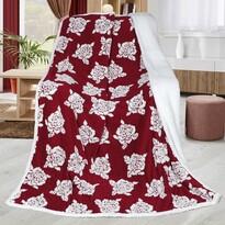 Baránková deka Ruže vínová, 150 x 200 cm