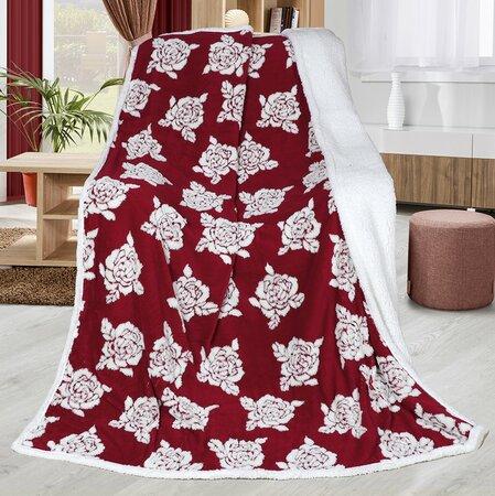 Beránková deka Růže vínová, 150 x 200 cm