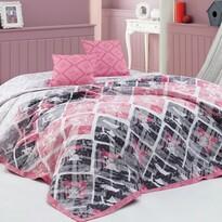 Cuvertură de pat BedTex Riviera, roz, 220 x 240 cm, 2x 40 x 40 cm