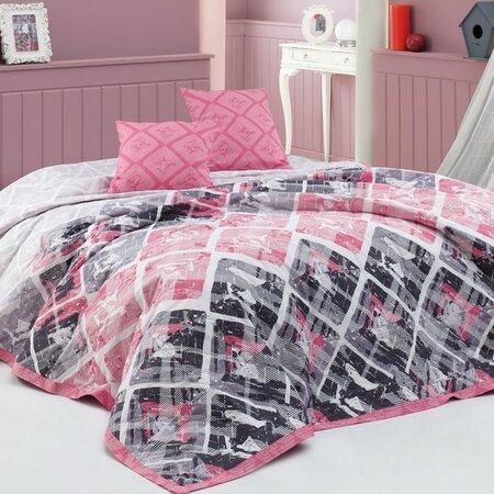 BedTex Riviéra ágytakaró rózsaszínű, 220 x 240 cm, 2x 40 x 40 cm