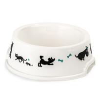 Vas Cane, pentru animale de companie, alb, diam. 16,5 cm