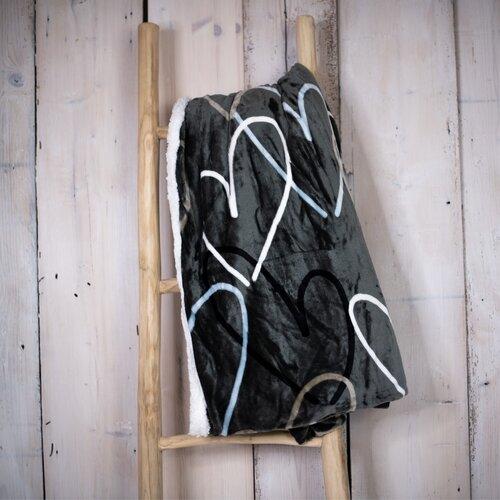 Pătură imitație blană de miel Love, 150 x 200 cm