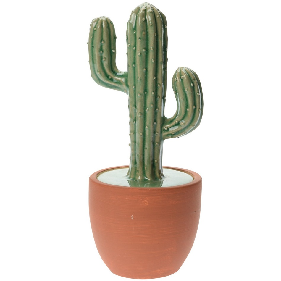 Keramický kaktus v květináči Chiapas