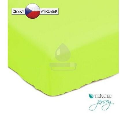 Nepropustné prostěradlo, zelené, 90 x 200 cm