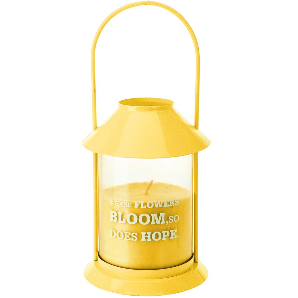 Lucerna se svíčkou, žlutá (677122) od www.4home.cz