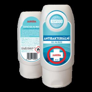 Topvet Antibakteriální gel na ruce Jahoda 50 ml