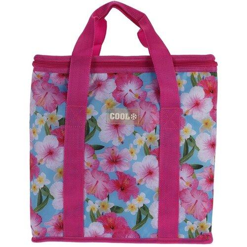 Koopman Chladicí taška Tropical flowers růžová, 16 l