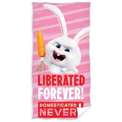 Osuška Tajný život maznáčikov Liberated Forever, 70 x 140 cm