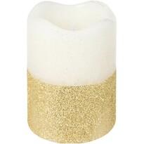 LED svíčka s časovačem 7 x 9 cm, zlatá