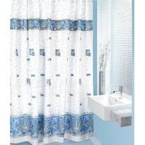 Zasłona prysznicowa Muszle niebieski, 180 x 200 cm