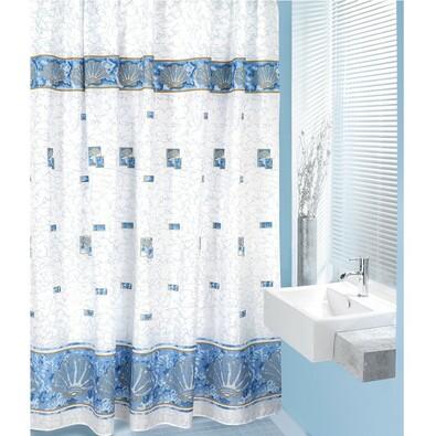 Sprchový závěs Mušle modrá, 180 x 200 cm