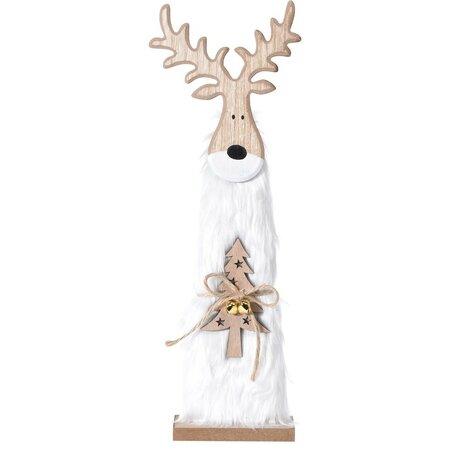 Karácsonyi fa Rénszarvas Ervin fehér, 40 cm