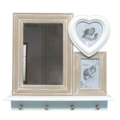 Fotorámečky se zrcadlem a věšáky
