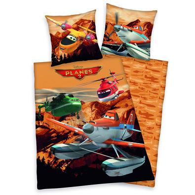 Dětské bavlněné povlečení Planes 2 Prášek, 140 x 200 cm, 70 x 90 cm