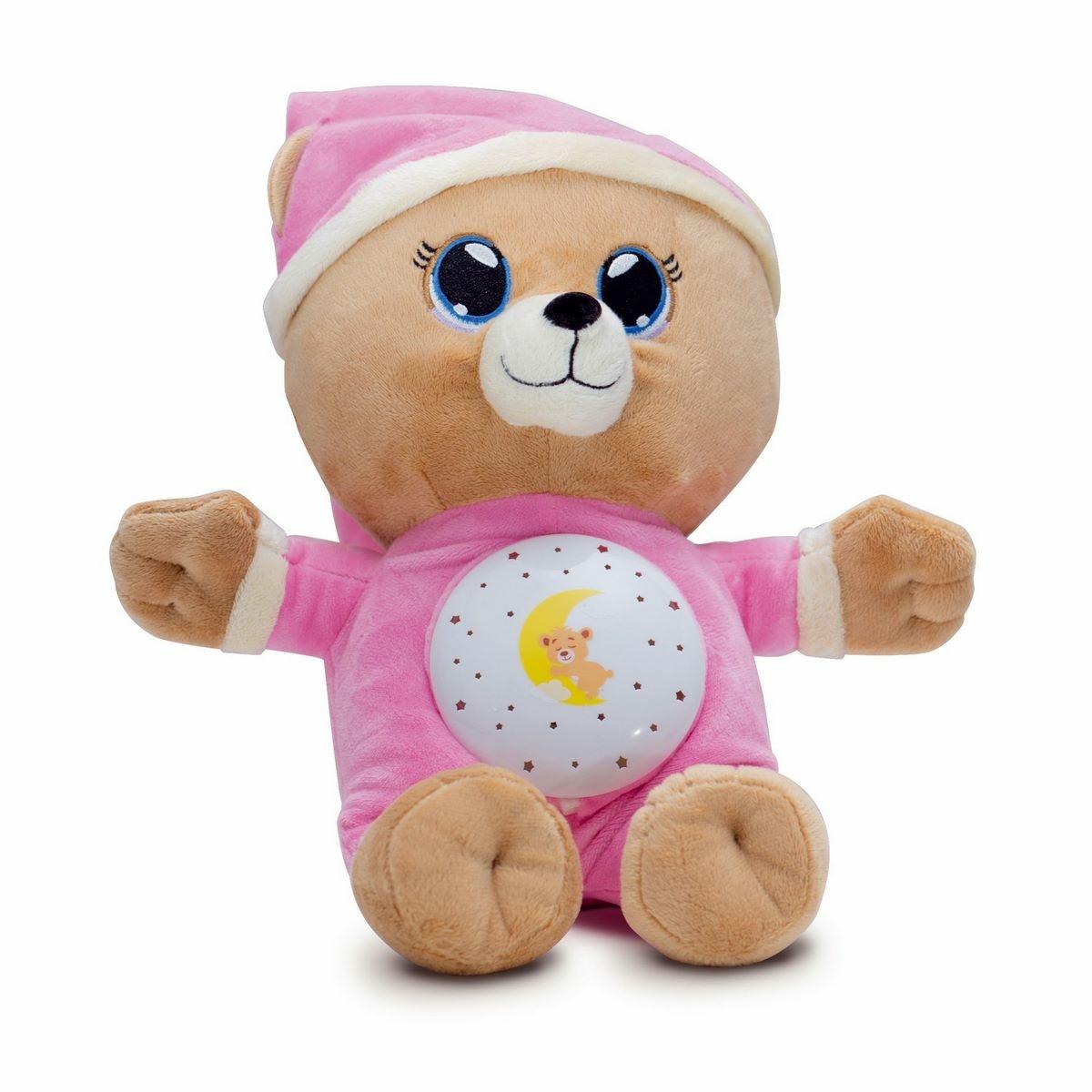 Teddies Plyšový medvedík Uspávačik 32 cm, ružová