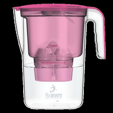 BWT filtračná kanvica Vida 2,6 l, ružová + 1x filter Mg2+