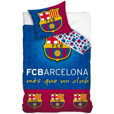 Bavlněné povlečení FC Barcelona Erby, 140 x 200 cm, 70 x 80 cm