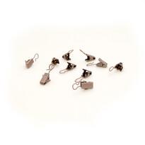 Háčky se žabičkou kovové, 10 ks, bronzové