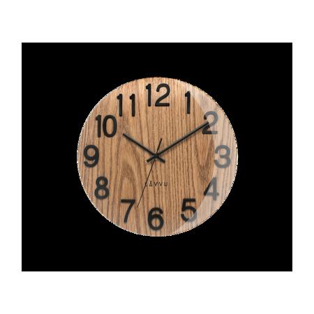 Nástěnné hodiny Lavvu Nord Black Oak LCT1060, pr. 30 cm