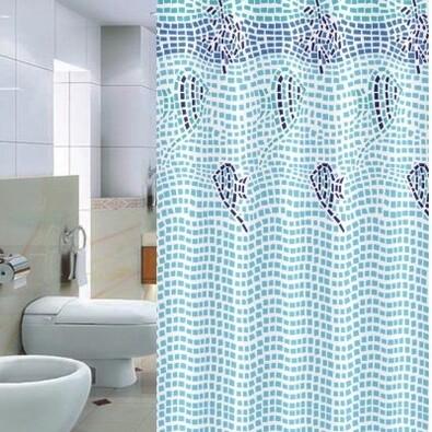 Sprchový závěs Pesaro modrá, 180 x 200 cm