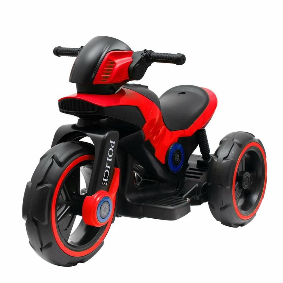 Baby Mix Detská elektrická motorka Police červená, 100 x 50 x 61 cm