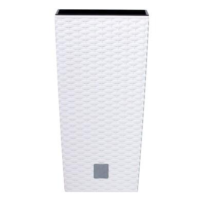 Osłonka na doniczkę Rato Square biały, wys. 37,6 cm