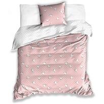 Lenjerie de pat din satin pentru copii Moomins, 140 x 200 cm, 70 x 90 cm
