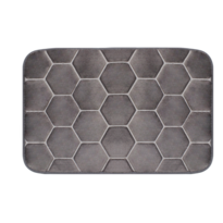 Domarex Koberček z pamäťovej peny Honeycomb, sivá, 38 x 58 cm