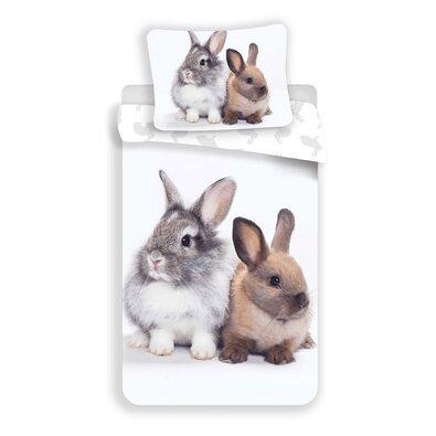 Bavlněné povlečení Bunny Friends, 140 x 200 cm, 70 x 90 cm