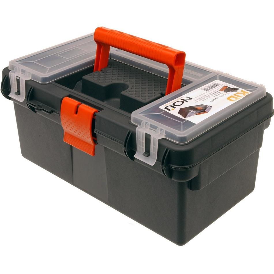 Přenosný box na nářadí černá, 36 x 21 x 16,5 cm