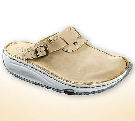 Dámské pantofle s aktivní podrážkou, béžová