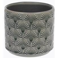 Înveliș de ghiveci din ceramică Campello gri, diametru 13 cm
