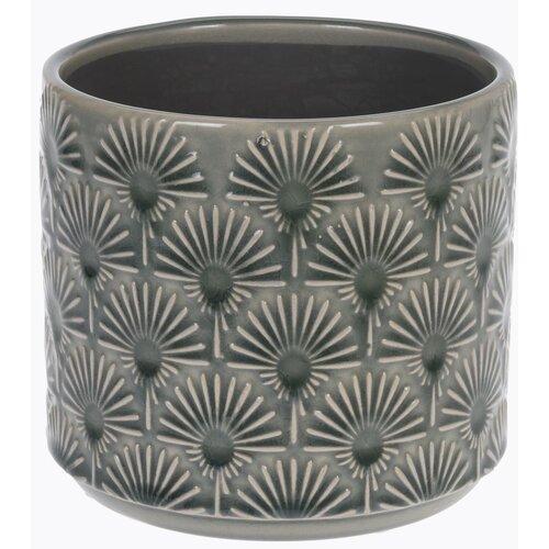 Osłonka ceramiczna na doniczkę Campello szara, śr. 13, cm