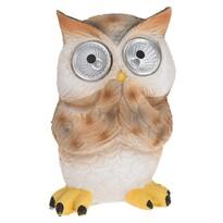 Lampa solarna Standing owl brązowy, 9 x 9 x 12,5 cm