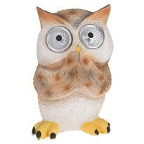 Standing owl szolár lámpa, barna, 9 x 9 x 12,5 cm