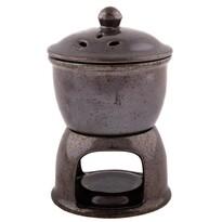 Aroma-lampă ceramică și cuptor de mere 2 în 1, gri închis