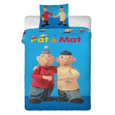 Dětské bavlněné povlečení Pat a Mat blue, 140 x 200 cm, 70 x 90 cm
