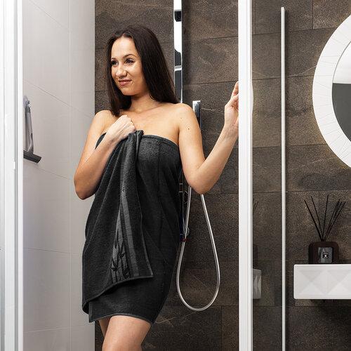 4Home Ręcznik Bamboo Premium czarny, 70 x 140 cm