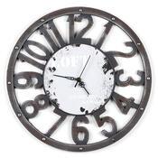Nástěnné hodiny Loft šedé