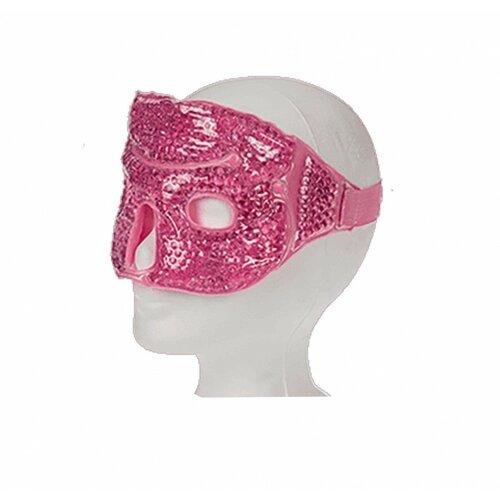 Gelová maska na obličej růžová, 28 x 12,5 cm