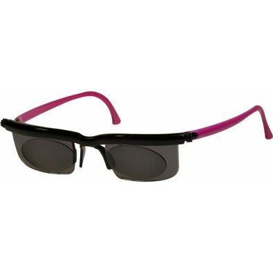 Nastavitelné dioptrické sluneční brýle Adlens, růžová