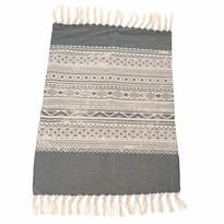 Csíkos szőnyeg futó, szürke, 90 x 60 cm