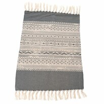 Traversă covor Dungi gri, 90 x 60 cm
