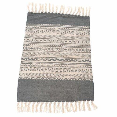 Kobercový behúň Prúžky sivá, 90 x 60 cm