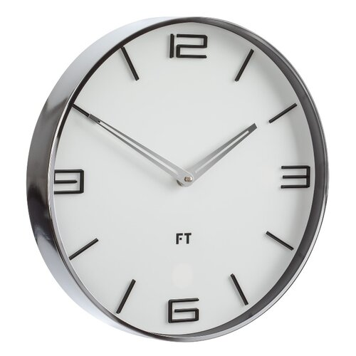 Ceas de perete Future Time FT3010WH Flat white de design diam. 30 cm