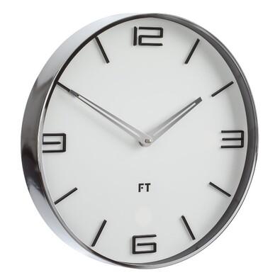 Future Time FT3010WH Flat white Designové nástenné hodiny, pr. 30 cm
